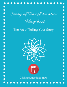 Story of Transformation Playsheet cover image
