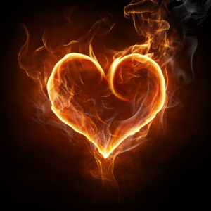 flame heart symbol for personal fire in the belly
