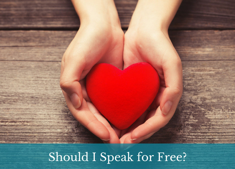 Should I Speak for Free?