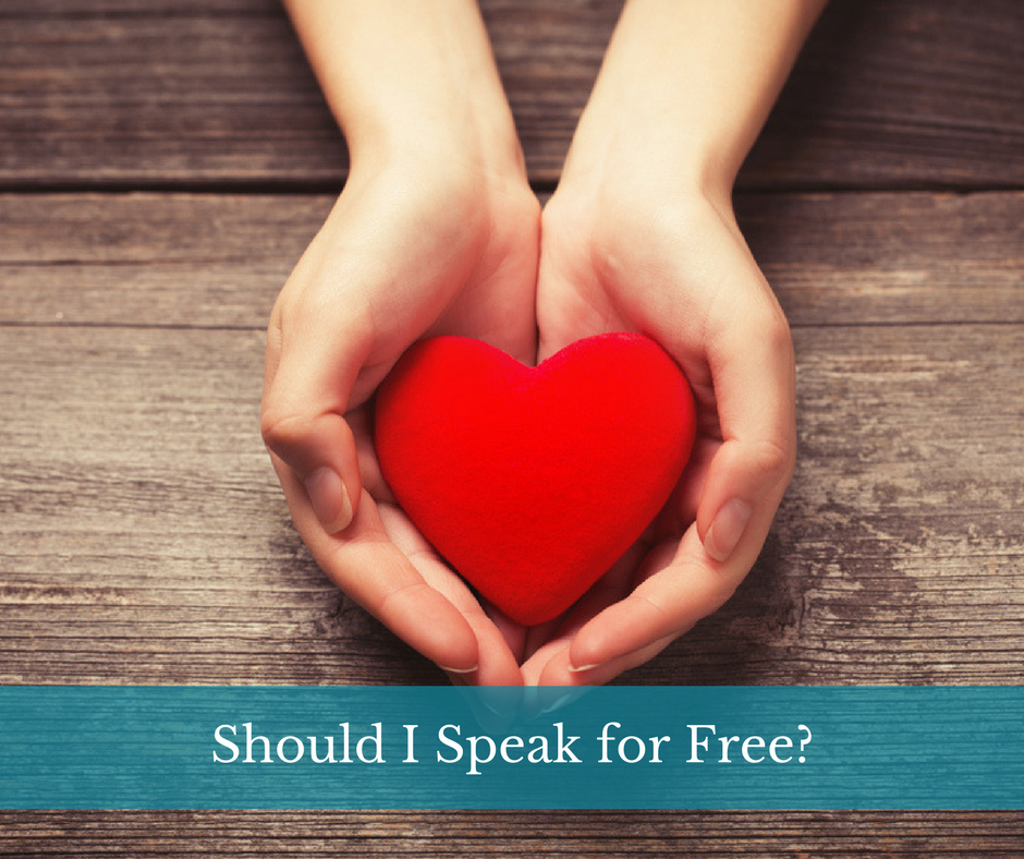 Should I Speak for Free?