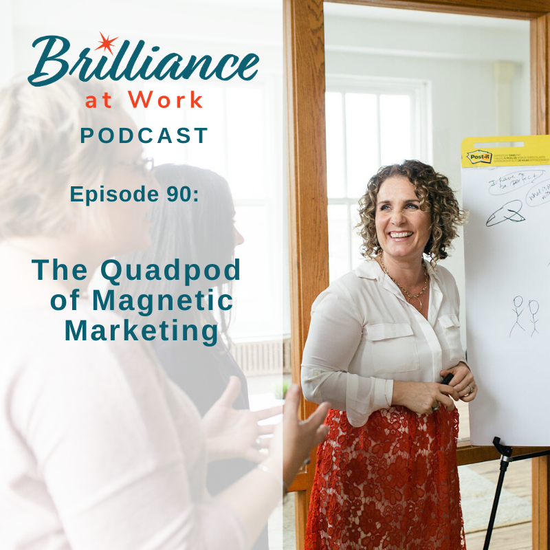 BRILLIANCE AT WORK PODCAST EP #90: The Quadpod of Magnetic Marketing | MICHELLEBARRYFRANCO.COM