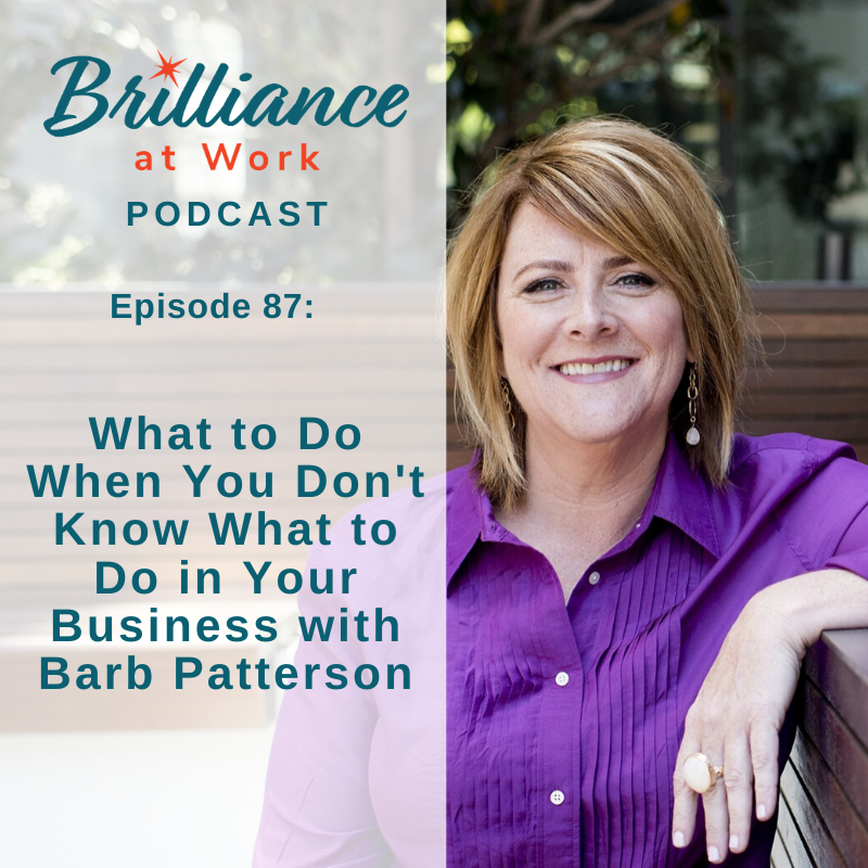 Ep #87: Barb Patterson on What to Do When You Don't Know What to Do in Your Business
